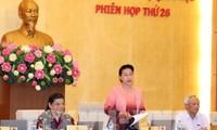 Inauguran vigésimo sexta sesión de Comité Permanente de Parlamento de Vietnam