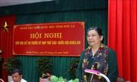 Dirigentes vietnamitas se reúnen con electores de varias localidades