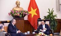 Vicepremier vietnamita recibe al jefe del Grupo de Visión APEC