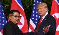 Estados Unidos y Surcoreana coordinan posturas para segunda cumbre entre Donald Trump y Kim Jong-un