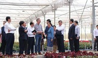 Presidenta parlamentaria de Laos conoce la producción agrícola de alta tecnología de Vietnam