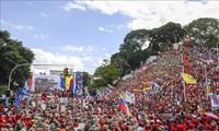 Pueblo venezolano protesta medidas de Estados Unidos