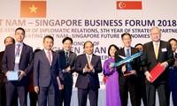 응웬 쑤언 푹 (Nguyen Xuan Phuc)총리 , 베트남 싱가포르 투자자 환영