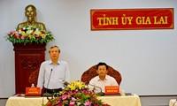 Tran Quoc Vuong사무 총장, Gia Lai 성에서 업무 회의