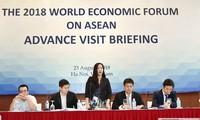 베트남, 2018년 WEF ASEAN회의 준비 대표단 하노이 방문 환영