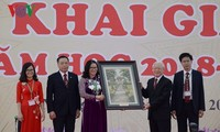 Nguyen Phu Trong서기장,  베트남 농업아카데미2018 – 2019년 개강식 참여