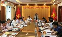 쯔엉 티 마이 (Trương Thị Mai) 중앙민중운동위원장, 조국전선단과 회의