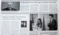 The Japan Times à propos de la prochaine visite au Japon du président vietnamien