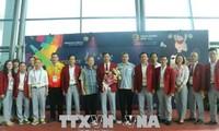 ASIAD 2018: la délégation vietnamienne est arrivée en Indonésie
