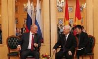 Nguyên Phu Trong rencontre le président du Parti  communiste de la Fédération russe