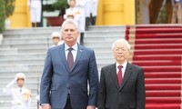 Nguyên Phu Trong accueille Miguel Mario Diaz Canel Bermudez