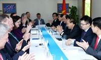 Nguyên xuân Phuc rencontre des chefs d'entreprises américaines