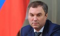 Le président de la Douma d'État russe au Vietnam