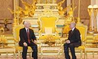 Nguyên Phú Trong entame sa visite au Cambodge