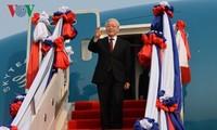 Nguyên Phu Trong en déplacement pour resserrer les liens avec le Laos et le Cambodge