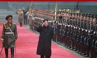 Retour de Kim Jong-un à Pyongyang après son déplacement au Vietnam