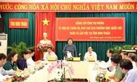 Tong Thi Phong travaille avec les autorités de la province de Ninh Thuân
