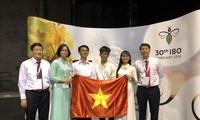 Olympiades internationales de biologie: tous les quatre Vietnamiens primés
