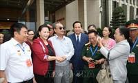 La présidente de l'Assemblée nationale rend hommage aux invalides de guerre