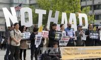Тысячи корейцев окружили посольство США в Сеуле для протеста размещения систем ПРО