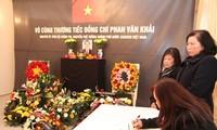 해외 친구들 및 베트남 교민사회, 판 반 카이 (Phan Van Khai) 전 총리 조문
