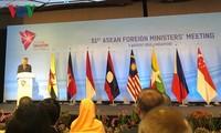 제51차 아세안 외무장관회의 (AMM), 싱가포르에서 공식 개막