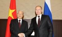 응우엔 푸 쫑(Nguyễn Phú Trọng) 베트남 총서기장: 베트남은 러시아와 전적으로 전략적 동반 관계를 강화하고 우선적으로 공고히 한다.