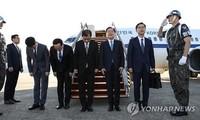 한국 대표단, 북한 지도층 회견