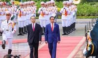 쩐다이꽝 국가주석, 조코 위도도 인도네시아 대통령 환영식 주재