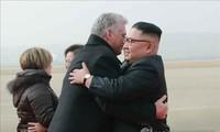 조선과 쿠바 지도자들, 중요 문제 논의