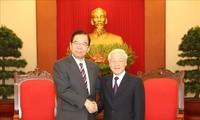 응우옌 푸 쫑 서기장-국가주석, 일본 공산당 대표단 접견