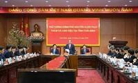 응우옌 쑤언 푹 국무총리, 타이빈성에 핵심지도자들과 업무