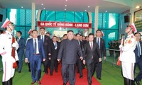 김정은 조선 국무위원장, 베트남 방문 공식 시작