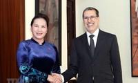 응우옌 티 낌 응언 국회의장, 모로코 총리와 회견