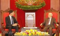 응우옌 푸 쫑 베트남 서기장-국가주석, 마르크 뤼터 네덜란드 총리 접견