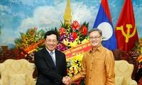 베트남 팜 빈 민 부총리, 라오스 전통 명절인 분피마이 축하