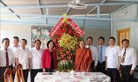 쯔엉 티 마이 중앙대중동원위원장, 껀터시에서 부처님 오신날 행사 참석