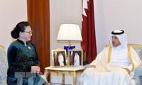 Chủ tịch Quốc hội Nguyễn Thị Kim Ngân hội kiến Thủ tướng Qatar Abdullah bin Nasser bin Khalifa Al Thani