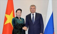 Chủ tịch Quốc hội Nguyễn Thị Kim Ngân hội kiến Chủ tịch Đuma Quốc gia Nga Vyacheslav Volodin