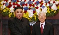 Tổng Bí thư, Chủ tịch nước Nguyễn Phú Trọng chúc mừng nhà lãnh đạo Triều Tiên Kim Jong Un