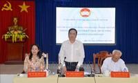 Chủ tịch Ủy ban Trung ương Mặt trận Tổ quốc Việt Nam Trần Thanh Mẫn đối thoại với đồng bào Phật giáo Hòa Hảo