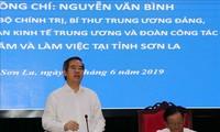 Trưởng Ban Kinh tế Trung ương Nguyễn Văn Bình làm việc với tỉnh Sơn La