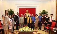 Trưởng Ban Dân vận Trung ương Trương Thị Mai tiếp  Đoàn Thanh niên Đảng Xã hội Chủ nghĩa Thống nhất Venezuela
