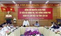 Thủ tướng Nguyễn Xuân Phúc làm việc với lãnh đạo tỉnh Lào Cai