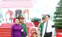 Chủ tịch Quốc hội Nguyễn Thị Kim Ngân dự Lễ truy điệu và an táng hài cốt liệt sỹ tại tỉnh Tây Ninh