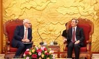 Trưởng ban Kinh tế TW Nguyễn Văn Bình tiếp Tổng Giám đốc IFC và Chủ tịch Google châu Á - Thái Bình Dương