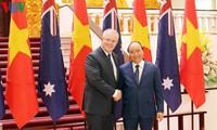 PM Vietnam, Nguyen Xuan Phuc mengadakan pembicaraan dengan PM Australia, Scott Morrison