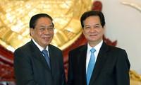 Vietnam dan Laos menyelesaikan pekerjaan mengerapkan dan memperbaiki tonggak perbatasan di lapangan