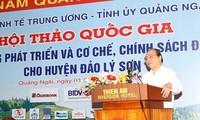 Kabupaten  Pulau Ly Son  akan mendapat prioritas yang paling unggul