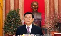 Новогоднее выступление президента СРВ Чыонг Тан Шанга